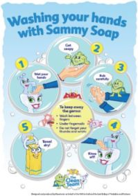 picture relating to Free Printable Hand Washing Posters titled MRSA Step United kingdom Small children handwashing