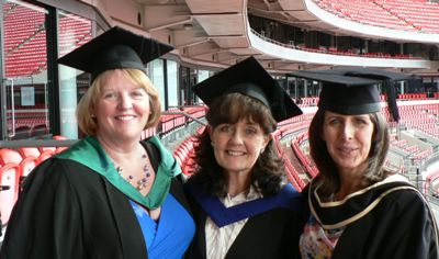 Maria with Professor Heather Loveday and Alison Tingle